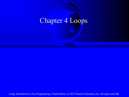 Chapter 4, Loops - NYU Computer Science