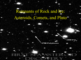 Remnants of Rock and Ice - Physics & Astronomy | SFASU