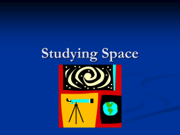 Studying Space
