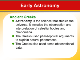 Early Astronomer Powerpoint