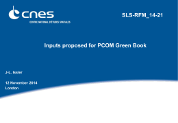 SLS-RFM-14-21 (Inputs proposed for PCOM Green BookV1)