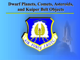Dwarf Planets, Comets, Asteroids, and Kuiper Belt Objects