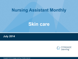 Skin Care - Cengage Learning