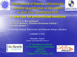 Absolute quantification by qPCR Developpement of