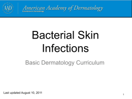 Case Five, Question 1 - American Academy of Dermatology