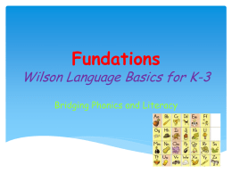 Fundations Power Point 4-11