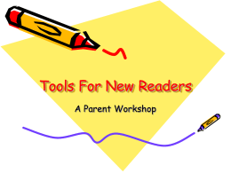 Tools For New Readers