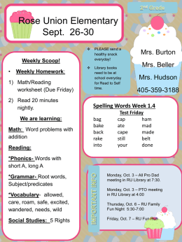 Weekly Scoop! - Prairie Vale Elementary School