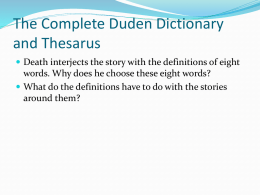 The Complete Duden Dictionary and Thesarus