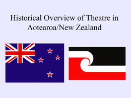 Historical Overview of Theatre in Aotearoa/New Zealand