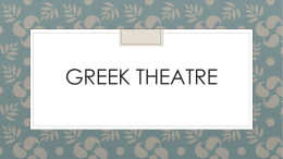 Lesson 2.Greek Theatre PowerPoint