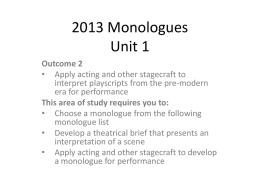 2013 Monologues year 11x