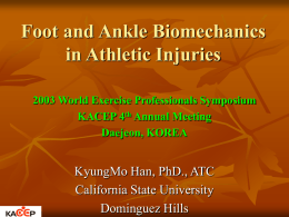 Foot and Ankle Biomechanics in Athletic Injuries