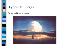 Types Of Energy - Noadswood Science