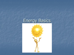 Energy Basics - the Red Clay Secondary Science Wiki!!