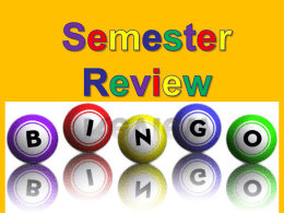 File semester review bingo