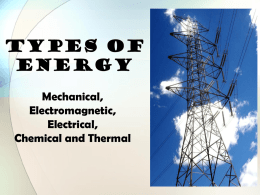 Unit 4 Types of Energy