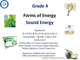 SC.4.P.10.3 - Forms of Energy - Sound