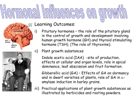 d) Hormonal influences on growth