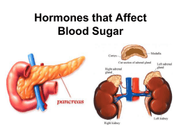 8.2 Hormones that Affect Blood Sugar