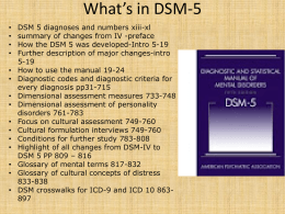 What's in DSM-5