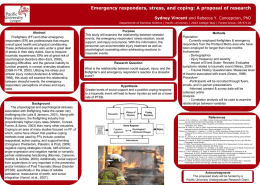 Emergency responders, stress, and coping: A proposal of