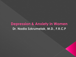 Depression & Anxiety in Women