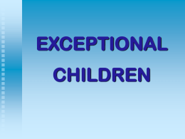 exceptional children - Sonoma State University