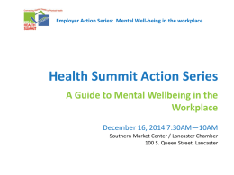 Mental Well-being in the Workplace 12/16/14 presentation