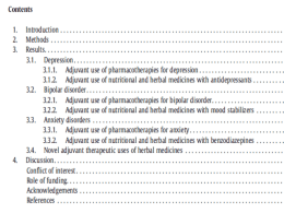 Adjuvant use of nutritional and herbal medicines with mood stabilizers