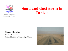 Sand and Dust Storm in Tunisia