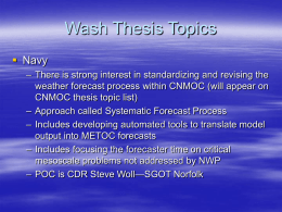 Wash Thesis Topics - Naval Postgraduate School
