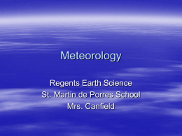 Meteorology - TeacherWeb
