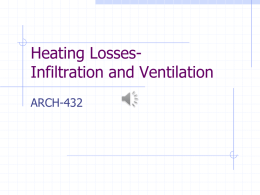 Heating Losses- Infiltration