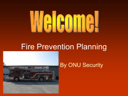 Fire Prevention Planning - Ohio Northern University