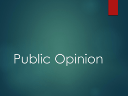Public Opinion - Marian High School