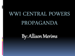 Central Powers Propaganda Project