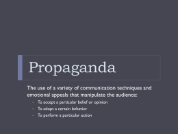 Types of Propaganda