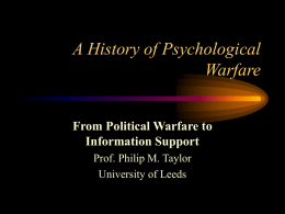A History of Psychological Warfare