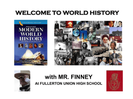 Welcome to MODERN WORLD HISTORY!