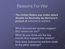 reasons for US entry into WWI