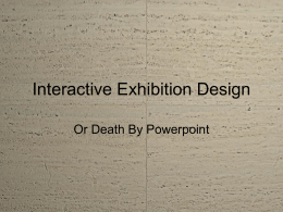 Interactive Exhibition Design - cpas