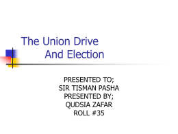the union drive and election