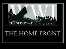 World War I at Home