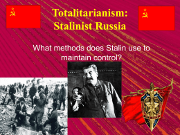 stalin thesis statement