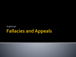 Fallacies and Appeals