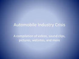 Automobile Industry Crisis