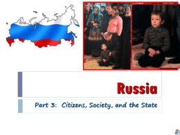 Citizens, Society, and the State in Russia