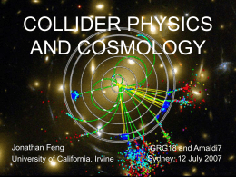Collider physics and cosmology