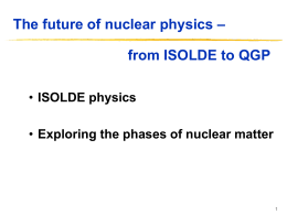 ISOLDE physics
